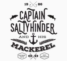 Captain Saltyhinder and his Mackerel One Piece - Short Sleeve