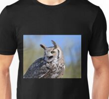 Vocal Great-Horned Owl Unisex T-Shirt