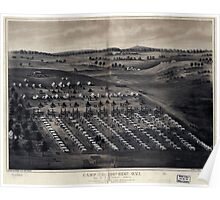 Civil War Maps 0218 Camp of the 196th Regt OVI Col R P Kennedy comdg Stevensons Station near Winchester Va Poster