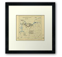 June 27 1944 World War II HQ Twelfth Army Group situation map Framed Print