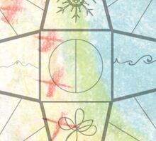 Chalk Compass Sticker