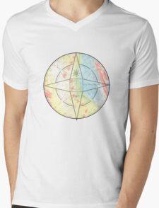 Chalk Compass Mens V-Neck T-Shirt