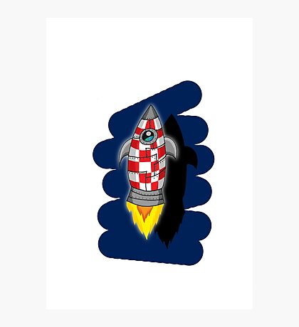 Space rocket Photographic Print