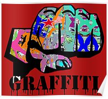 Graffiti covered fist Poster