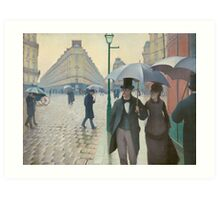 Paris Street in Rainy Weather by Gustave Caillebotte (1877) Art Print
