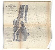 Civil War Maps 1480 Preliminary chart of St Augustine harbor Florida Poster