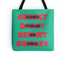 First and Last Names Pride and Prejudice Tote Bag
