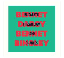 First and Last Names Pride and Prejudice Art Print