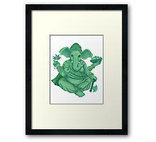 Green Ganesh Framed Print