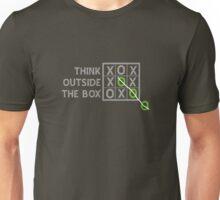 Think Outside the Box (White) Unisex T-Shirt