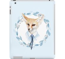 Fox and floral wreath. For cards iPad Case/Skin