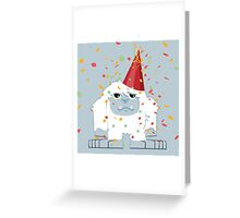 Party Yeti Greeting Card