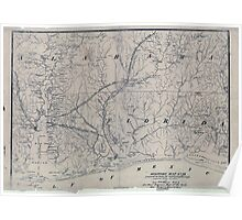 Civil War Maps 1125 Military map no 54 prepared as basis for additional surveys Poster