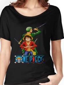 One Piece Luffy and Zoro Women's Relaxed Fit T-Shirt