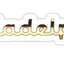 Illadelph Logo Sticker (Gold) Sticker