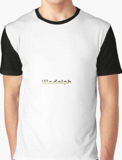 Illadelph Logo Sticker (Gold) Graphic T-Shirt