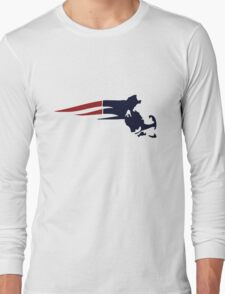 New England Patriots Massachusetts Logo Long Sleeve T-Shirt