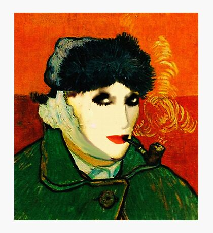 MyFunnyGallery (Selfportrait : Photomontage with total disapproval of VanGogh) Photographic Print