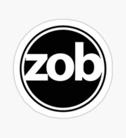 Zob Glass Sticker (Black) Sticker