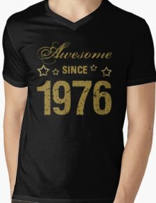 Awesome Since 1976 Mens V-Neck T-Shirt
