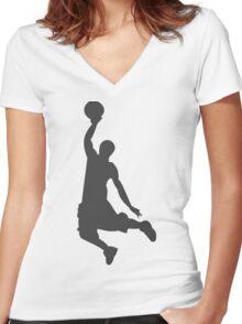 Slam Dunk Women's Fitted V-Neck T-Shirt