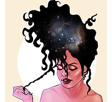 Galaxy girl Photographic Print