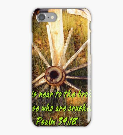 """Psalm 34:18""  by Carter L. Shepard iPhone Case/Skin"