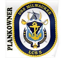 LCS-5 USS Milwaukee Plankowner Poster