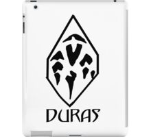 House of Duras Emblem (Black) iPad Case/Skin