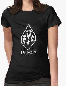 House of Duras Emblem (White) Womens Fitted T-Shirt