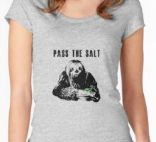 Stoner Sloth - Pass the salt 2 Women's Fitted Scoop T-Shirt