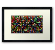 Abstract Cube Array - Mixed Colors Framed Print