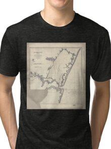 Civil War Maps 1111 Matomkin Inlet Virginia Tri-blend T-Shirt
