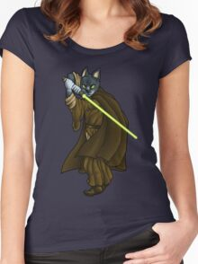 Cat Jedi (New) Women's Fitted Scoop T-Shirt