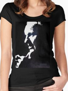 Shankly Black and White Women's Fitted Scoop T-Shirt