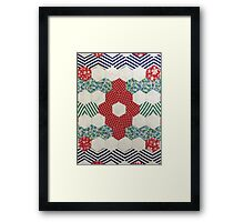 Vintage Hexagon Patchwork by Jackie Wills Framed Print