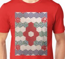 Vintage Hexagon Patchwork by Jackie Wills Unisex T-Shirt