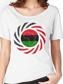 Black Murican Patriot Flag Series Women's Relaxed Fit T-Shirt
