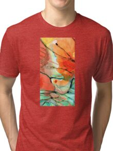 Red Abstract Art - Decadence - Sharon Cummings Tri-blend T-Shirt