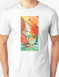 Red Abstract Art - Decadence - Sharon Cummings T-Shirt