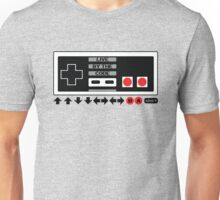 Nintendo Konami - Live by the Code (NES) Unisex T-Shirt
