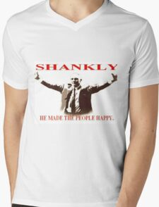 Shankly He made the people happy Mens V-Neck T-Shirt