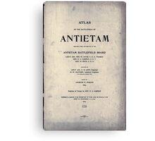 Civil War Maps 0073 Atlas of the battlefield of Antietam Canvas Print