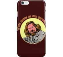 The Dude is my Boyfriend (Yellow) iPhone Case/Skin