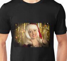 Portrait of a smiling female santa claus. Unisex T-Shirt