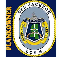 LCS-6 USS Jackson Plankowner for Dark Photographic Print