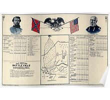 Civil War Maps 1061 Map showing the battle field at Harrisburg Miss July 13-15 1864 Poster