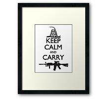Keep Calm and Carry Framed Print