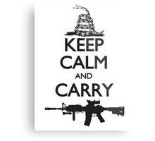 Keep Calm and Carry Metal Print