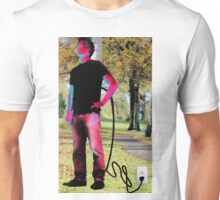 Man Plugged In Unisex T-Shirt